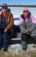 Beautiful weather for our 4th Annual All Women's Ice Fishing Fundraiser for Kid's Cancer.